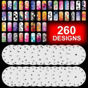 20 Airbrush Nail Stencil Sheets Design Art Paint Pages 1-20