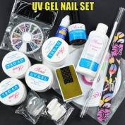 UV Gel Nail Set + Rhinestones CODE