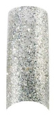 Cala Professional Glitter Tips in Silver # 87-821 + Free Eco A-viva Nail File
