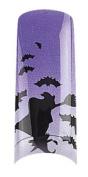 Cala Professional Holiday Design Airbrushed Nail Tips in # 87-737+ Free A-viva Eco Nail File