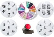 Moyou Nail Art Princess Bundle+ Nail Art Rhinestone Pack-1200 premium quality Gemstones
