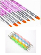 12pcs Acrylic Nail Art UV Gel Carving Pen Brush Liquid Powder DIY & Dotting Pen Marbleizing Tool Nail Art