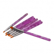 7Pcs UV Gel Acrylic Nail Art Painting Detailing Brushes + 5 X 2 Way Marbleizing Dotting Pen Set