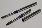 Ma Cherie Finest 100% Pure Kolinsky Brush, Size # 8, France, Reversible Steel Metal Handle