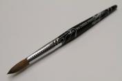 Ma Cherie Finest 100% Pure Kolinsky Brush, Size # 10, France, Black Marble Handle