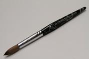 Ma Cherie Finest 100% Pure Kolinsky Brush, Size # 12, France, Black Marble Handle