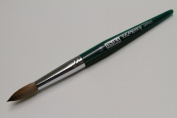 Osaka Finest 100% Pure Kolinsky Brush, Size # 14, Made in Japan, Green Marble Handle