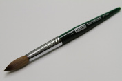 Osaka Finest 100% Pure Kolinsky Brush, Size # 18, Made in Japan, Green Marble Handle