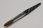 Ma Cherie Finest 100% Pure Kolinsky Brush, Size # 20, France, Black Marble Handle