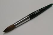 Osaka Finest 100% Pure Kolinsky Brush, Size # 20, Made in Japan, Green Marble Handle