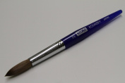 Kyoko Finest 100% Pure Kolinsky Brush, Size # 22, Made in Japan, Blue Marble Handle