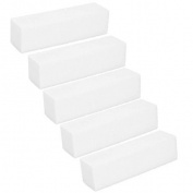 5pcs White Buffer Buffing Sanding Block File Acrylic For Nail Art