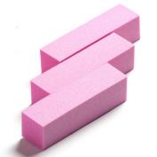 Yesurprise 10X Sponge Sanding Nail Art Acrylic Decoration Files Buffer Polish Manicure Pink