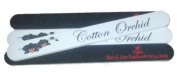 Cotton Orchid Cushioned Nail File Grit 100/180 - 25 pack