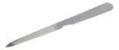 Grafco 1776 Stainless Steel Triple Cut Nail File 12.7cm  - 12/bx