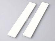 Jumbo Professional Nail File Square White 80/80 50 Nail Files Size 17.8cm X 2.5cm