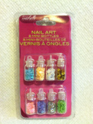 Nail Art 8 Mini Bottles of Manicure Micro Beads