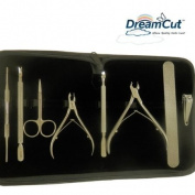 8 piece professional manicure salon kit With cowhide case