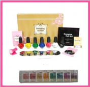 "Konad Professional SET G+ Itay Beauty Mineral 8 Stacks ""Caribbean Samba"" Shimmers for Nail Base Coat Polish + Eye"