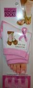 Pink and White Pedicure Socks + Toe Separators