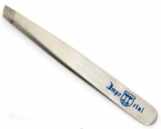 Eyebrow Tweezers Stainless Steel Slant Tip Finish