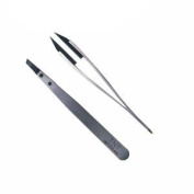 Tnt/rubis Tweezer - Stainless Handle With Polymer Slant Tips