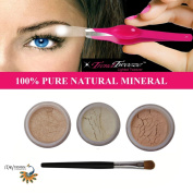 """ITAY """"Rested"""" Mineral Eye Shimmers+Stainless Steel LED Lighted Trend Tweezers"""