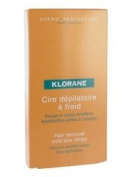Klorane Hair Removal Cold Wax Strips Face and Sensitive Zones