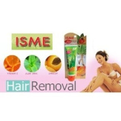 Isme Herbal Hair Remover Cream with Aloe Vera, Vitamin C & Apricot (70g.)made in Thailand