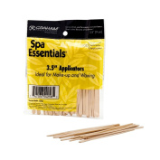 Graham Spa Essentials 100 Wooden Lip Applicators Hair Waxing Makeup 8.9cm Sticks