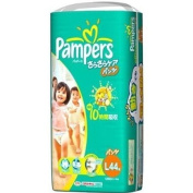 P & G | Nappies | Pampers Cotton Care Pants L-size 44 sheets [ Japanese Import ]