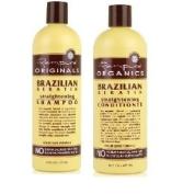 Renpure Organics Brazilian Keratin Straightening Shampoo & Conditioner 470ml