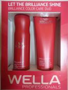 Wella Brilliance DUO Colour Care for Fine/Normal Hair Shampoo 300ml and Conditioner 240ml