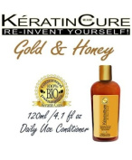 Keratin Cure Gold & Honey Bio-Brazilian Powerful Extracts to nourish your hair Conditioner 120ml 4.1 Fl Oz