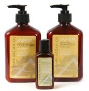 Amir Argan Oil Shampoo and Conditioner Duo (12 oz) with a FREE Travel Moisturiser (2 oz) Set