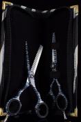 Pro Hairdressing Barber Salon Scissors, Thinning Scissors set 14cm , Original Zebra Pattren