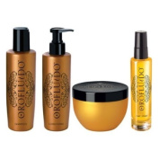 Orofluido Shampoo, Conditioner, Shine Spray, Mask Set - 4pc