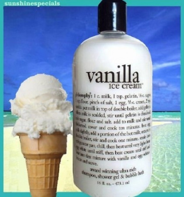 Philosophy Vanilla Ice Cream Shampoo, Shower Gel, and Bubble Bath 470ml