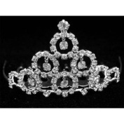 New Bridal Flower Girl Prom Party Crystal Tiara Comb 75
