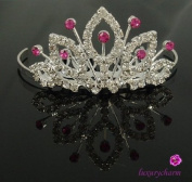 New Bridal Flower Girl Prom Party Crystal Tiara Comb T7
