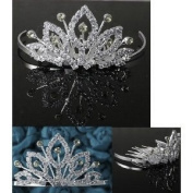 Bridal Flower Girl Prom Party Crystal Tiara Comb T4
