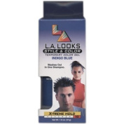 L. A. Looks Style and Colour Temporary Colour Gel, Indigo Blue, X-treme Hold, 50ml