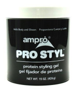 Ampro 440ml Pro-Styl Protein Gel Jar (3-Pack) with Free Nail File
