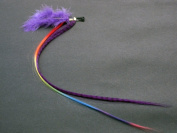 Purple Clip in Synthetic Hair Extension 38cm with Bonus Hair Claw Clip