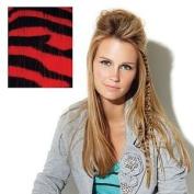 Hairuwear Clip In Animal Print Red Tiger