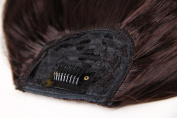False Bang Neat Fringe Hairpiece Clip in Hair Extensions ,Brown