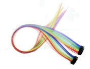 2 X Rainbow Colour Grizzly Synthetic Feather Clip on in Hair Extensions Handmade Beauty Salon Supply Wholesale Lot New