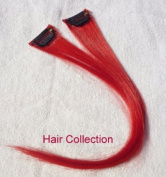 Hair Collection-30cm Red 100% Human Hair Clip in on Extensions - 4.1cm widex2pcs