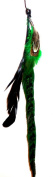One Zhoe Full Feather Extensions Green Hair Accessories 12838