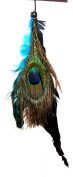 One Zhoe Full Feather Extensions Peacock Hair Accessories 12837